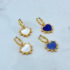 Tory Burch Heart Charm Earrings